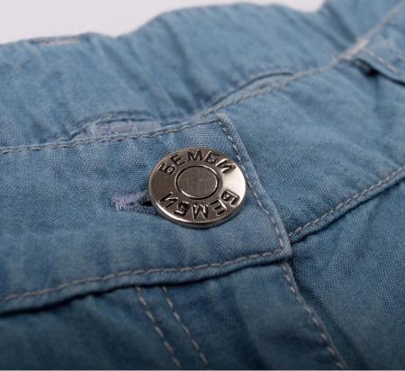 Pantalon scurt cu buzunare, subtire, jeans, fete, Albastru [2]