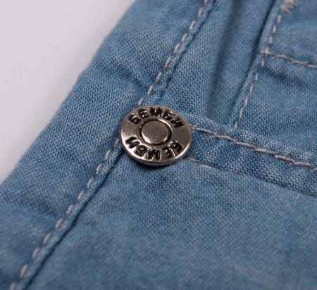 Pantalon scurt cu buzunare, subtire, jeans, fete, Albastru [3]