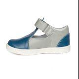 Pantofi piele, decupati, cu talonet, baieti, Gri/Albastru, Pablo [2]