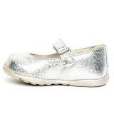 Balerini eleganti din piele, fete, Argintiu, Candy [2]