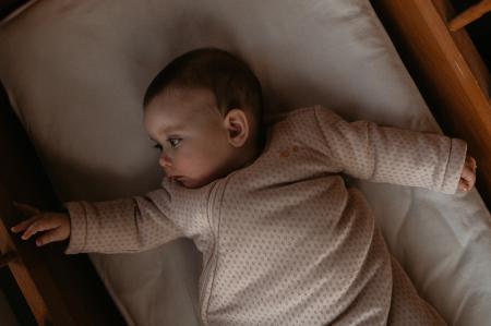 Sac de dormit gros TOG 2.0, maneca lunga, bumbac 100%, fete, Roz prafuit1