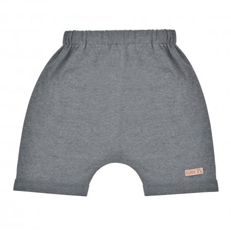 Pantalon scurt cu buzunar spate_baieti_Gri0