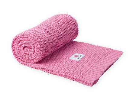 Paturica tricotata, Bumbac 100%, 100*80 - Roz [0]