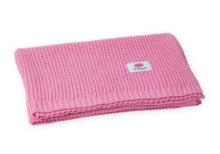 Paturica tricotata, Bumbac 100%, 100*80 - Roz [1]