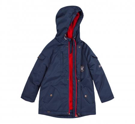 Jacheta groasa cu gluga, elemente reflectorizante, baieti, Albastru2