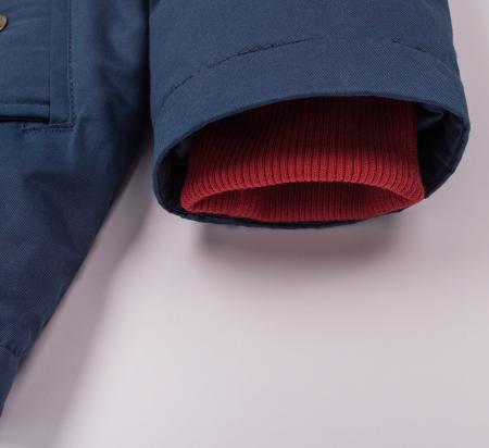 Jacheta groasa cu gluga, elemente reflectorizante, baieti, Albastru4