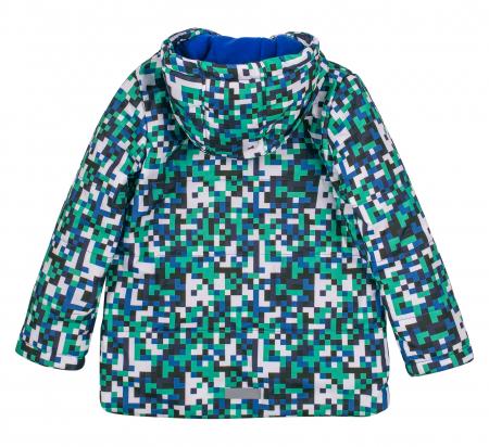 Jacheta groasa cu gluga, element reflectorizant, baieti, Verde/Albastru3
