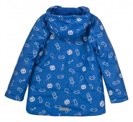 Jacheta groasa cu gluga, baieti, Albastru/Model [3]