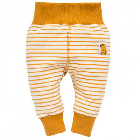 Pantalon leggings_Bej cu dungi galben/maro_Nice day0
