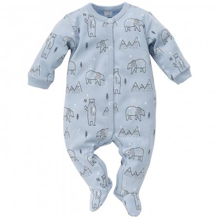 Pijama tip salopeta intreaga cu talpa bumbac 100%_North_blue0