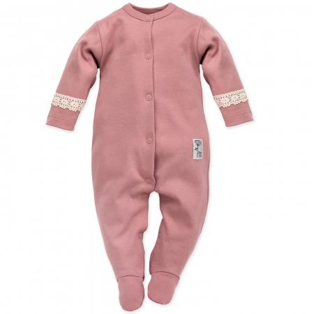Pijama tip salopeta intreaga cu talpa bumbac 100%_Petit Lou0