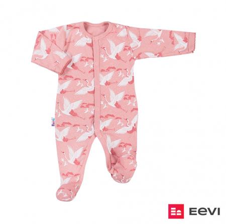 Pijama tip salopeta intreaga cu talpa bumbac 100%_roz_Sky0