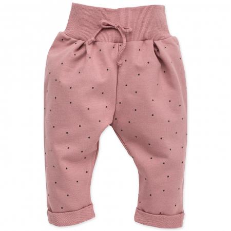 Pantalon trening_Roz cu buline_Petit Lou0
