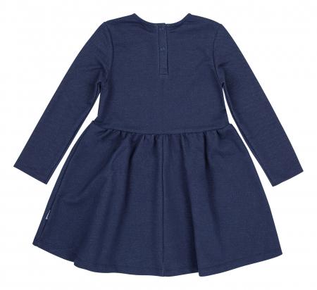 Rochie cu maneca lunga, fete, Albastru/Flori1