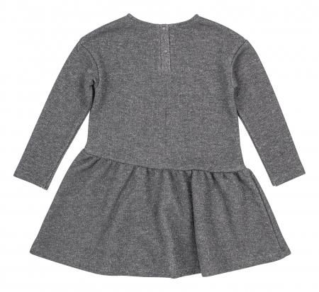 Rochie cu maneca lunga, fete, Gri/Lama1