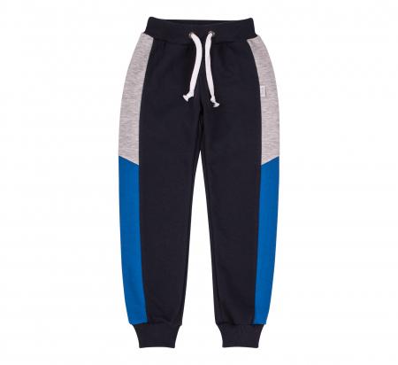 Pantalon lung trening, baieti, Gri petrol/Albastru gri0