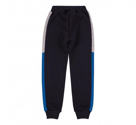 Pantalon lung trening, baieti, Gri petrol/Albastru gri1
