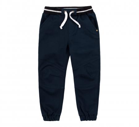 Pantalon lung tip blugi, bumbac 100%, baieti, Albastru inchis0
