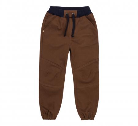 Pantalon lung tip blugi, bumbac 100%, baieti, Maro0