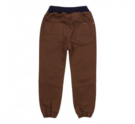 Pantalon lung tip blugi, bumbac 100%, baieti, Maro [1]