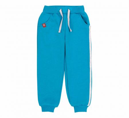 Pantalon trening cu buzunare, baieti, Albastru0