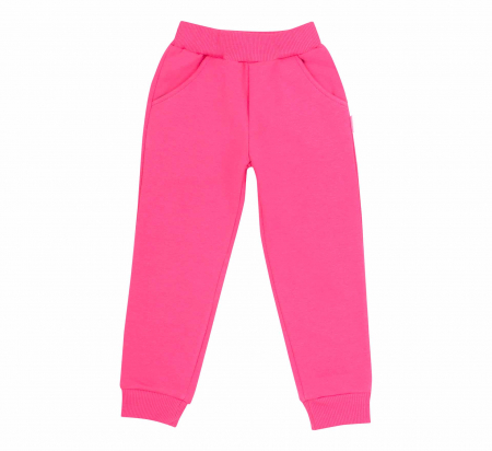 Pantalon trening cu buzunare, fete, Roz0