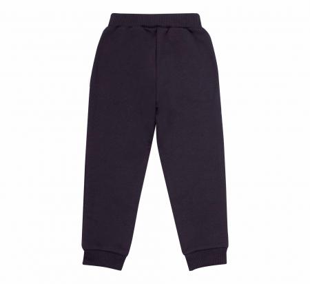 Pantalon lung cu buzunare, fete, Negru/Inimioara [1]