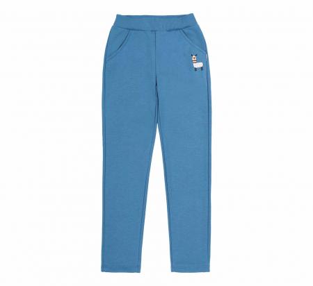 Pantalon trening cu buzunare, fete, Albastru/Lama0