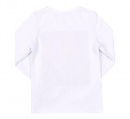Bluza cu maneca lunga, Alb/Leu, Safary1