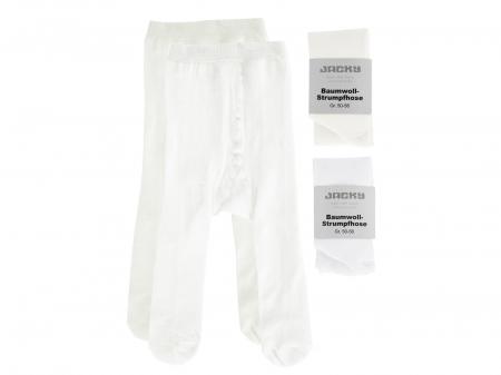 Ciorapi cu chilot, set 2 buc,alb/ crem_fete0