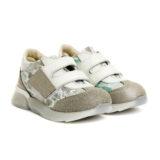 Pantofi sport din piele, fete, Ecru/Auriu, Tokyo Lime [0]