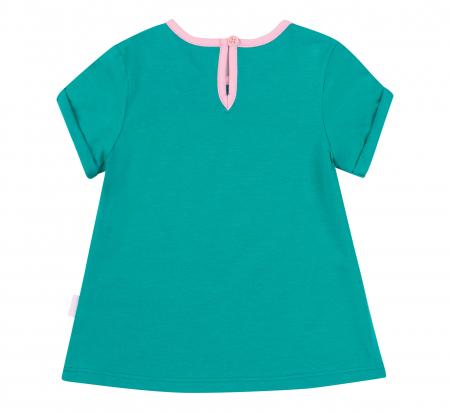 Tricou cu maneca scurta, fete, bumbac 100%, Verde intens [1]