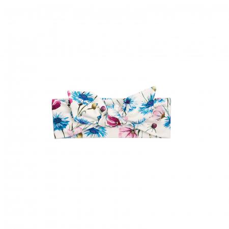 Bentita cap, Alb/Flori albastrele0