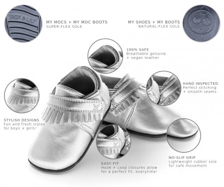 Pantofi sport, piele, baieti, Maro/Crem, Bradely [1]