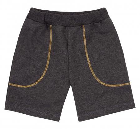 Compleu; tricou cu maneca scurta si pantalon scurt cu buzunare, bumbac 100%, baieti, Galben/Gri [2]