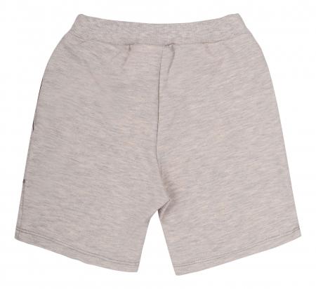 Compleu; tricou cu maneca scurta si pantalon scurt cu buzunare, bumbac 100%, baieti, Caramiziu/Gri [4]