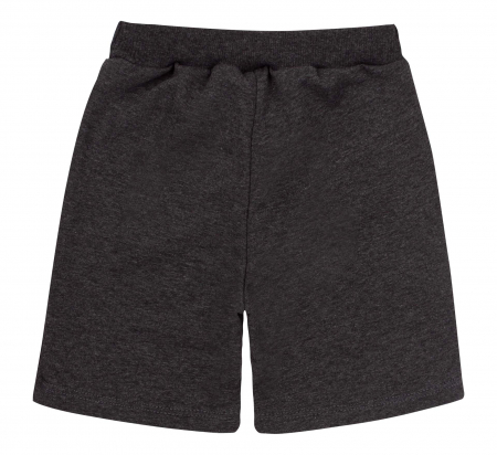 Compleu, tricou cu maneca scurta si pantalon scurt cu buzunare, bumbac 100%, baieti, Aqua/Gri [4]