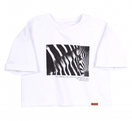 Set bluza maneca lunga+hanorac, Alb/Zebra, Safary [1]