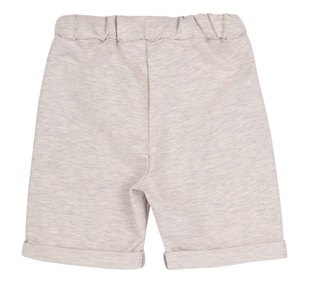 Compleu , tricou cu maneca scurta si pantalon scurt, baieti, Portocaliu/Gri [3]