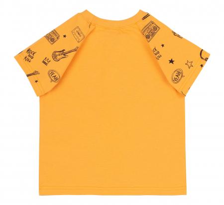 Compleu , tricou cu maneca scurta si pantalon scurt, baieti, Portocaliu/Gri [4]