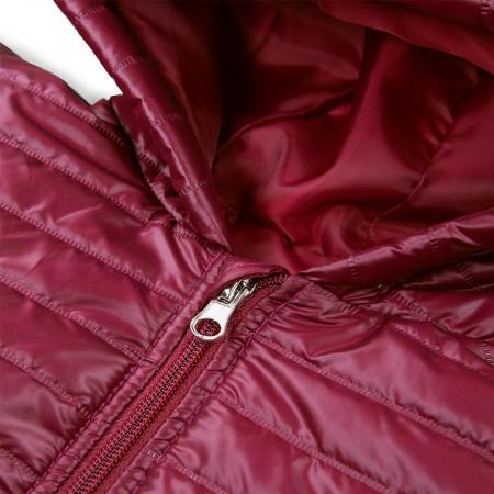 Jacheta matlasata cu fermoar si gluga, fete, Bordo, Simply Comfy3