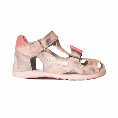 Sandale piele, roz/argintiu, fete, MARIO [2]