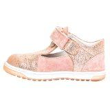 Pantofi piele, decupati, cu talonet, Roz, velour, Pablo [2]