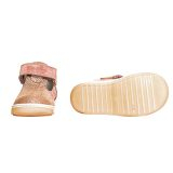 Pantofi piele, decupati, cu talonet, Roz, velour, Pablo [4]