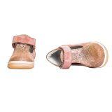 Pantofi piele, decupati, cu talonet, Roz, velour, Pablo [5]