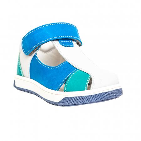 Sandale piele, albastru/gri, baieti, PABLO0