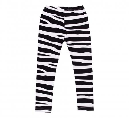 Pantalon lung, leggings, Alb/Negru, Safary [1]