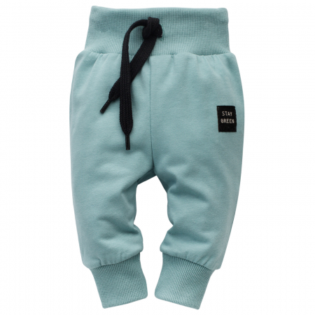 Pantalon lung tip leggings, bumbac 100%, baieti, Stay Green0