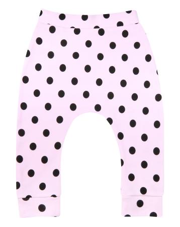 Pantalon trening, Roz cu buline negre0