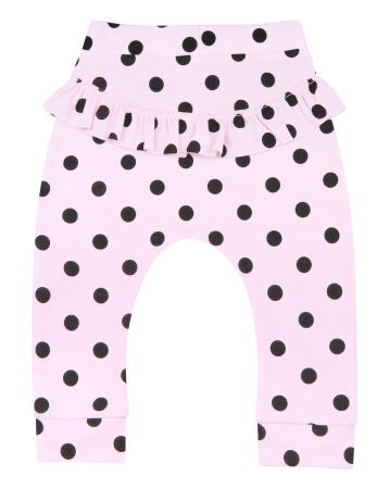 Pantalon trening, Roz cu buline negre1
